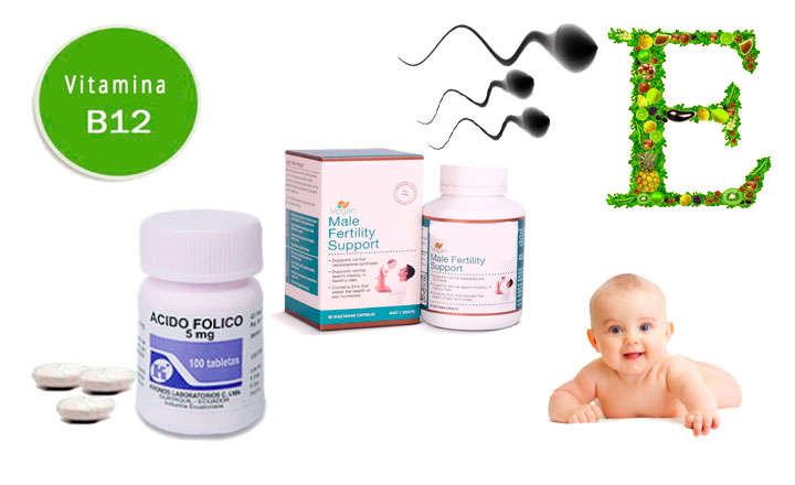 vitaminas fertilidad masculina